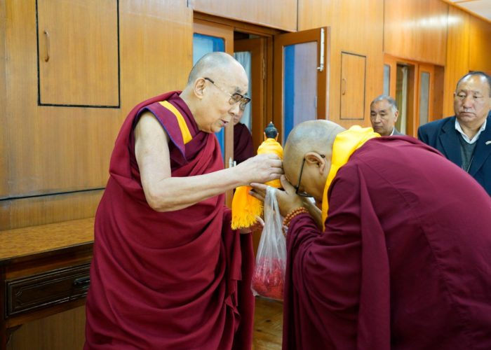 HH the Dalai Lama and Geshe Thupten Phelgye