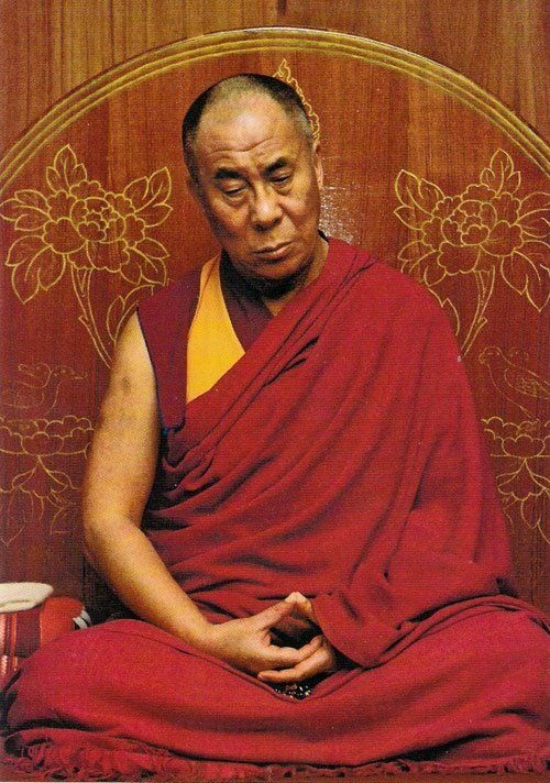 H.H. the Dalai Lama Meditating