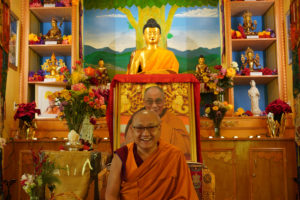 Geshe Phelgye teaching at the Buddhist Institute of Universal Compassion