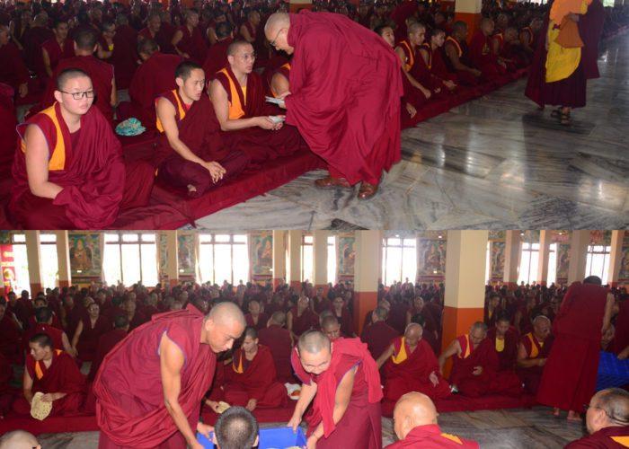 Sera-Jey Monastery offering