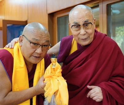 Dalai Lama and Geshe la Phelgye