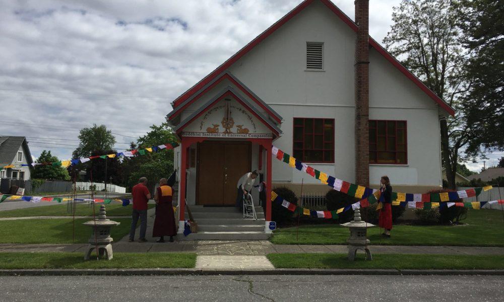 Buddhist Institute flying Prayer Flags for Buddha Purnima 2019