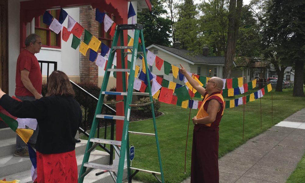 Tibetan Prayer Flags at the Buddhist Institute