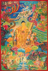 Buddha descending from the Tulshita Heavens