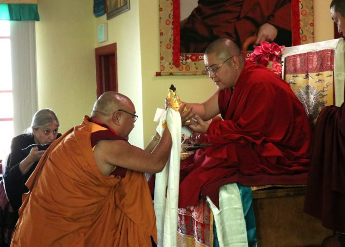 Ling Rinpoche and Geshe Phelgye