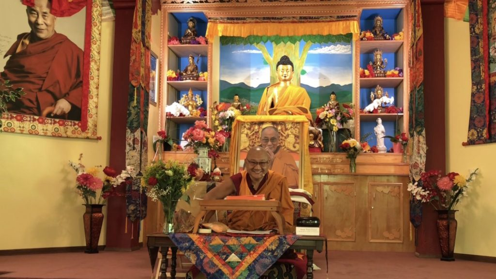 Geshe Phelgye teaching at the Buddhist Institute of Universal Compassion temple